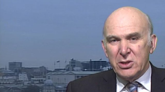 UK Business Secretary Vince Cable