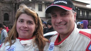 Brazilian competitors Luiz and Cristina Facco