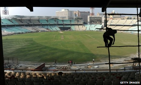 Kolkata's Eden Gardens, pictured on 5 January 2011