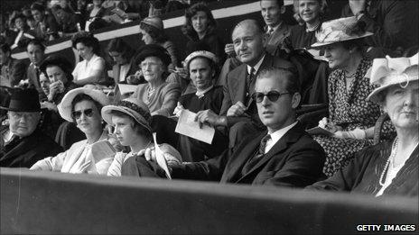 Princess Alexandra of Kent and Prince Philip at Wembley Stadium
