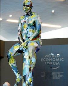 statue in davos entrance