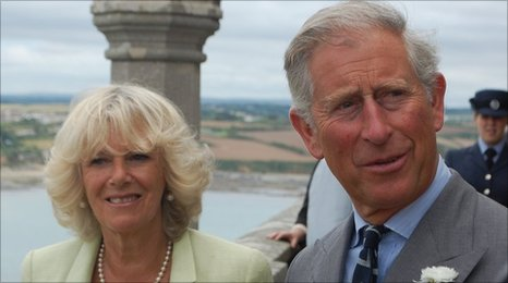 The royal couple on St Michael's Mount