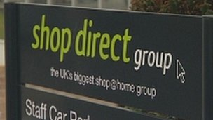 Shop Direct sign