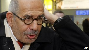 Mohamed ElBaradei leaves Vienna for Egypt. 27 Jan 2011
