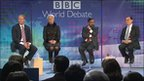 BBC World Debate panel