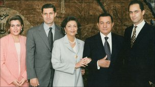 An undated family photograph at Tahadeya Palace in Cairo, released in 2007