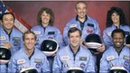 Crew of STS-51L, the Challenger shuttle mission which ended in only its second minute