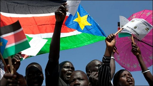 Sudanese supporters of secession.