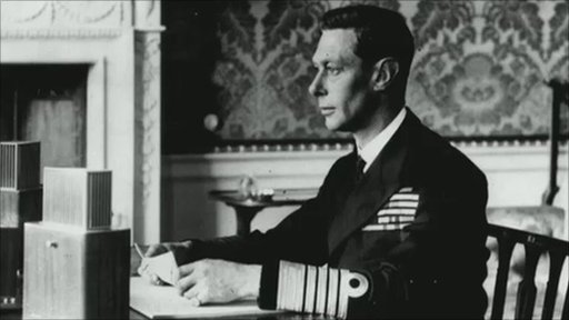 King George VI delivers his Christmas message in 1941
