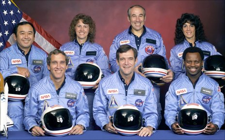 Crew of the space shuttle Challenger mission STS-51L
