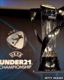 The Uefa Under-21 Championship trophy