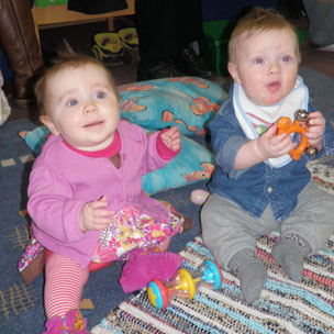 babies at the Exeter children's centre