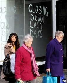 Shoppers in Leeds