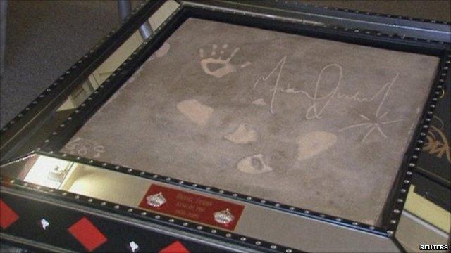 Michael Jackson's concrete slab