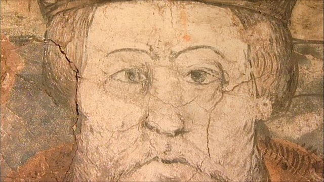 The mural of King Henry VIII
