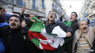 Demonstration in Algiers, 22 Jan 2011