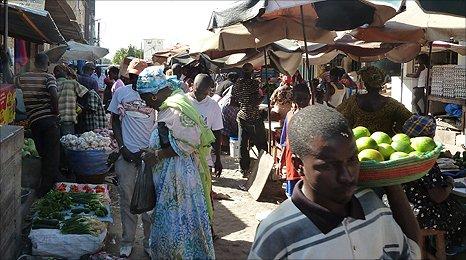 Street market in Dakar