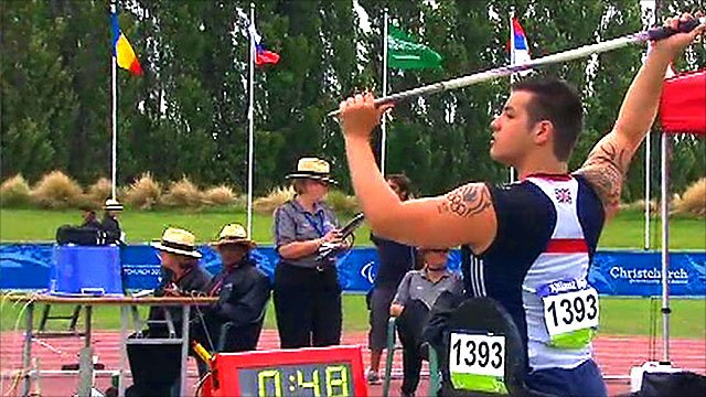 Welsh javelin thrower Nathan Stephens