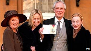 Diana and Barry Norman with their daughters, Samantha and Emma, in 1998