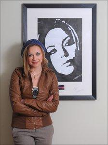 Charlotte Church with the pop art portrait
