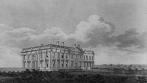 Painting of the White House in 1814
