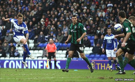 David Bentley scores for Birmingham