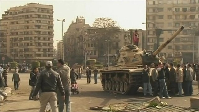 Tank in Cairo