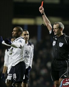 Jermain Defoe and Martin Atkinson