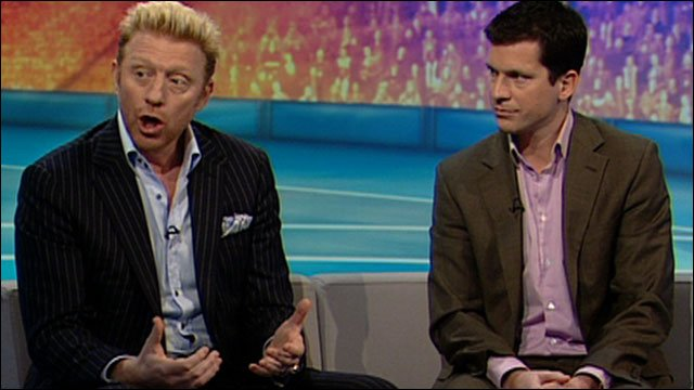 Boris Becker and Tim Henman