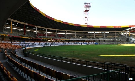 The M. Chinnaswamy Stadium in Bangalore