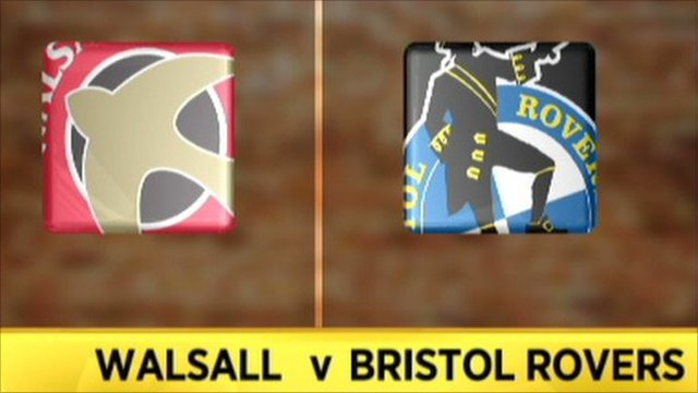 Walsall 6-1 Bristol Rovers