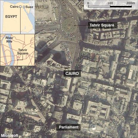 Tahrir Square map