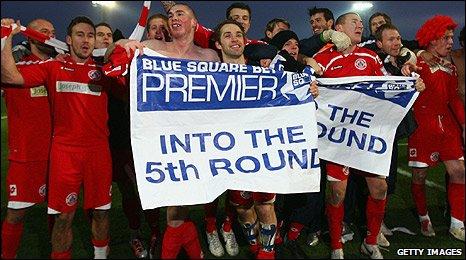Crawley Town celebrate