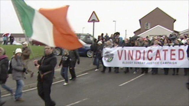 Marchers in Londonderry