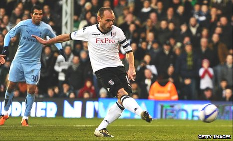 Danny Murphy scores from the penalty spot