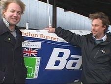 James Adair and Ben Stenning  with Indian Runner