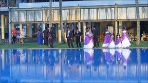 Wedding celebration at Blue Water Hotel in resort of Wadduwa