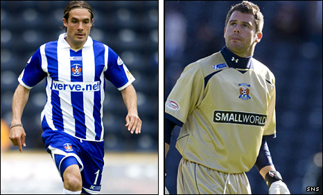 Danny Invincibile and Alan Combe have both left Kilmarnock