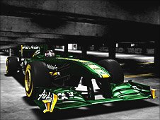 The new Lotus F1 car