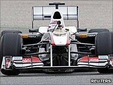 Kamui Kobayashi in the new Sauber C30