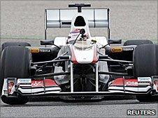 Kamui Kobayashi in the new Sauber C30
