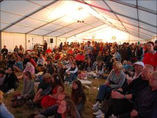 Sark Folk Festival crowd