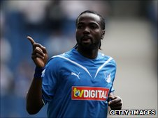 Prince Tagoe in action for Hoffenheim