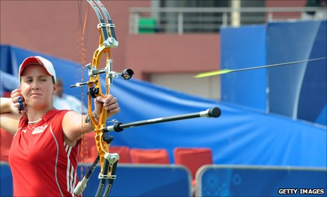 Nicky Hunt at the Commonwealth Games