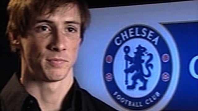 New Chelsea signing striker Fernando Torres