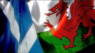 Scottish and Welsh flag