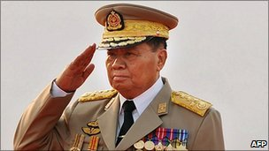 Burma's leader senior general Than Shwe (pictured 27 March 2010)