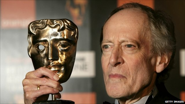 John Barry with his Bafta award