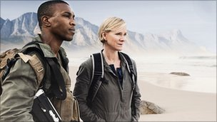 Ashley Walters and Hermione Norris in Outcasts