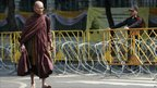 A Buddhist monk in Bangkok, Thailand - 1 February 2011